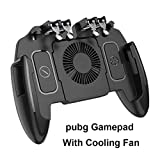 XCO XiaoXiao Palanca de Mando móvil rotación del botón Gamepad for iOS PUBG androide Six Finger 6 Gamepad operativo con el Ventilador Mobile Game Controller (Color : with Cooling Fan)