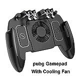 XCO XiaoXiao Palanca de Mando móvil rotación del botón Gamepad for iOS PUBG androide Six Finger 6 Gamepad operativo con el Ventilador Mobile Game Controller (Color : with Cooling Fan)
