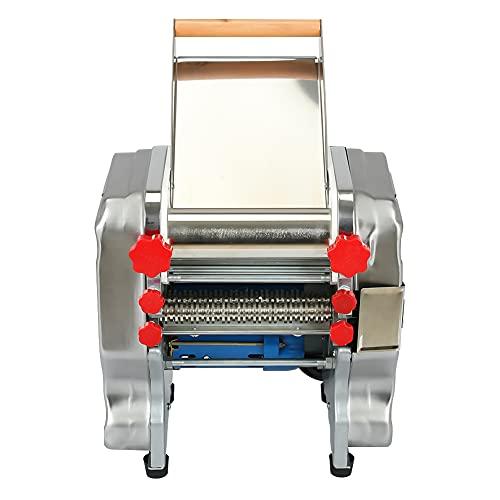 HOMIER Electric Pasta Press Maker 110V Dumpling Skin Making Tool Stainless Steel Noodle Machine 550W Commercial & Home Use 3mm   9mm