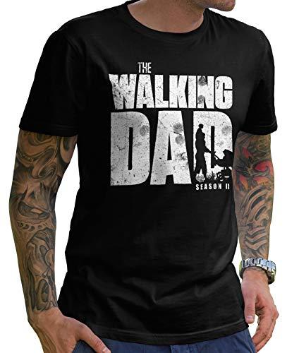 Stylotex Lustiges Herren Männer T-Shirt Basic | The Walking Dad | Geschenk für werdende Papas, Größe:S, Farbe:schwarz (4101)