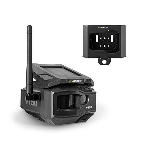 VOSKER V150-V | LTE Cellular Security Camera, No Wi-Fi Needed | Security Pack | Solar-Powered Wireless Outdoor Surveillance Camera | Receive Photos on Your Mobile App from Virtually Anywhere (V150-V)