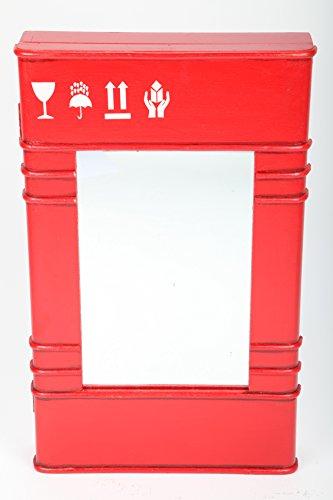 point home Design-Schlüsselschrank Kanister, Spiegelschrank, rot, 50cm