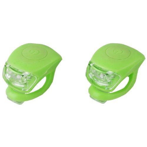 Lsv-8 LED Mini Silikonlicht Lampe Silikonleuchte 2er Set, 2 Funktionen grün