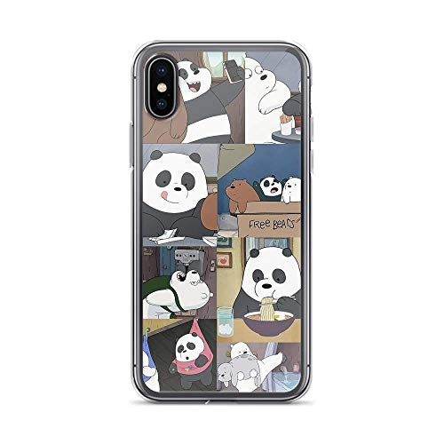 Compatible with iPhone 11 Case We Bare Bears Daily Moments American Animated Series Pure Clear Phone Cases Cover (12 Mini)