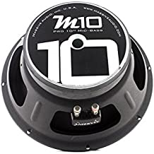 Massive Audio M10 10 Inch 350 Watts, 8 Ohm Pro Audio Midrange Speaker for Cars, Stage and DJ Applications. Sold Individually.