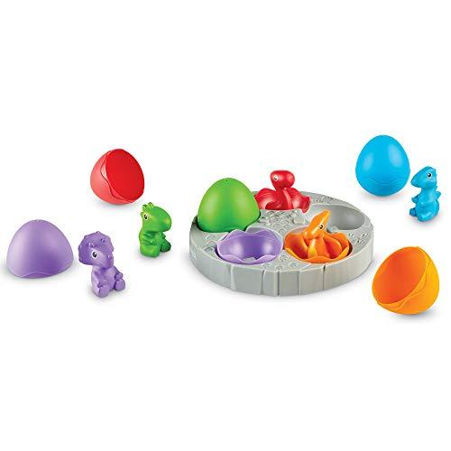 Learning Resources LER6807 Babys Sortierset, Dino-Spielzeug, Zählen & Sortieren, Ab 18Monaten