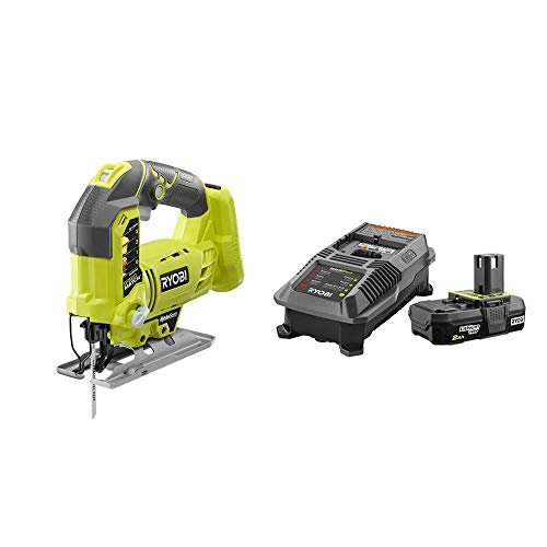 RYOBI P5231-P163 18-Volt ONE+ Cordless Orbital Jig Saw with 2.0 Ah Battery and Charger Kit