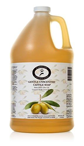 Price comparison product image Castile Soap Liquid Unscented - 1 Gallon - Vegan & Pure Organic Soap - Carolina Castile Soap - Concentrated Non Drying All Natural Formula Good For Sensitive Skin