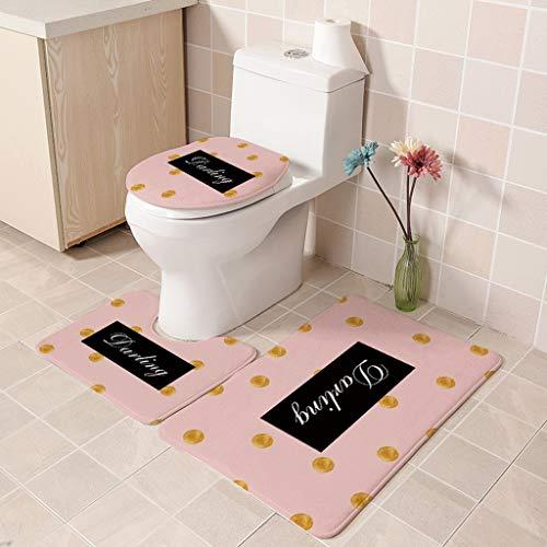 Ensemble De Toilette En Trois Pièces Coussin De Siège De Toilette Couvre-toilette Absorbant Antidérapant En Flanelle Peluche Douce Et Courte (Color : F, Size : 50 * 80CM)