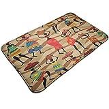 Felpuzle de mujer africana juegos de búfalo limpia tus patas de coco felpudo colección antideslizante