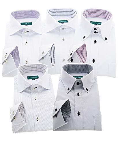 GREENWICH POLO CLUB(グリニッジポロクラブ) 長袖ワイシャツ 5枚セット メンズ pf 001-Sr