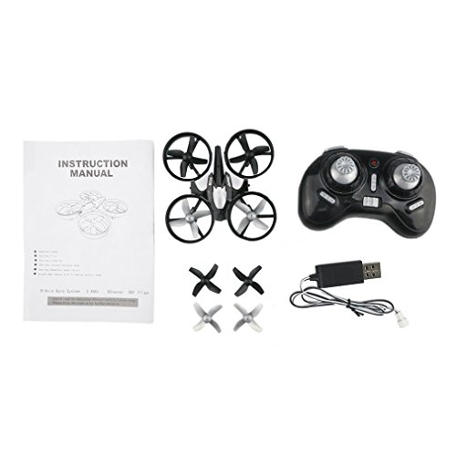 H36 Mini Drone RC Drone Quadcopters Met Headless Mode One Key Return Zes Assen RC Helikopter Speelgoed Cadeau Voor Kidsgray