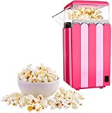 PowCube Hot Air Popper Popcorn Maker Machine Healthy,Free Oil,Light Pink