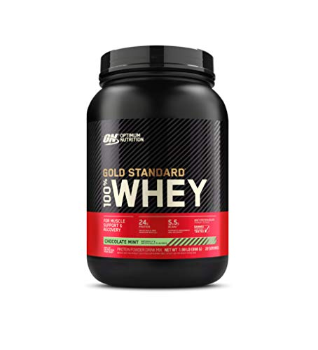OPTIMUM NUTRITION GOLD STANDARD 100% Whey Protein Powder, Chocolate Mint 2 Pound (Packaging May Vary)