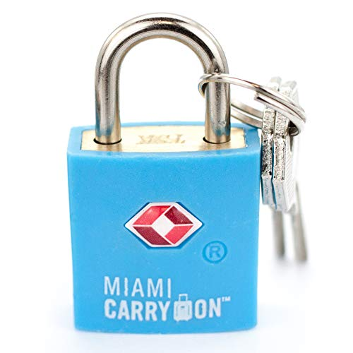 TSA Approved Padlock - Best Keyed Luggage Lock, 0.9 Inch Wide - Light Blue