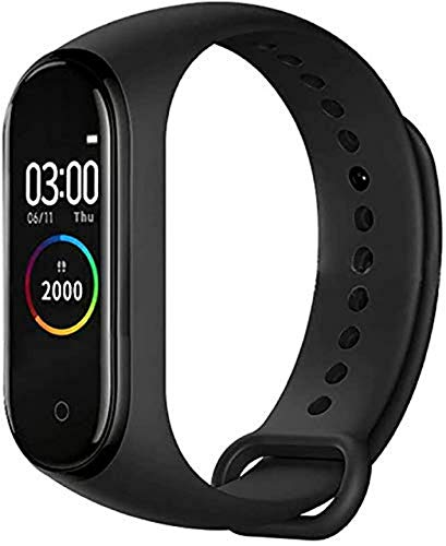 SHOPTOSHOP Smart Band M4 Fitness Tracker Watch with Heart Rate, Activity Tracker Water Resistant Body Functions Like Steps Counter, Calorie Counter, (Men and Women)