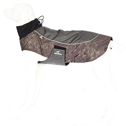Treat Me Abrigo Impermeable Perro Chubasquero Chaqueta para Mascotas Caliente y Resistir Lluvia Ajustable para Pasar caminar o Entrenamiento al Deportes y Aire Libre Caqui M