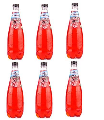 6x San Benedetto Ginger zero PET Flasche ohne zucker 75cl Ingwer bitter