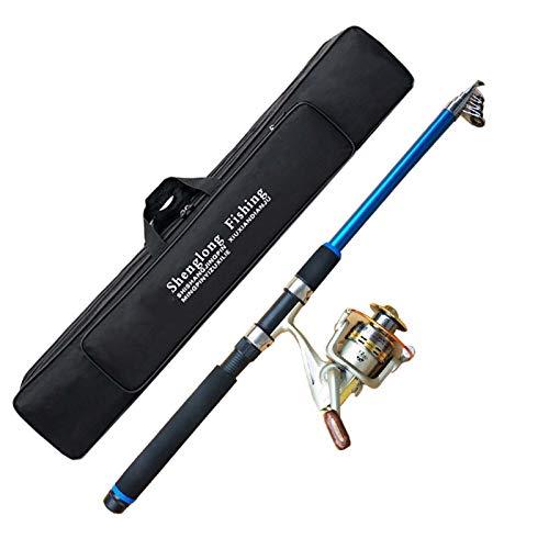 YX Sistema De Lanzamiento del Polo De Mar Conjunto Completo De La Rueda De Metal Super Hard Throwing Pole Long Lanzamiento De La Barra De Pesca Establecer Combinación(Size:2100cm)