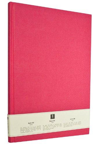 Semikolon (351235) Notizbuch Classic A4 blanko pink (rosa) - Buchleinenbezug - 160 Seiten mit cremeweißem 100g/m²- Papier - Lesezeichen