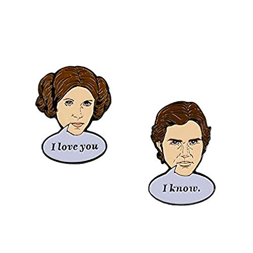 Star Wars Han Solo & Princess Leia Collector Pins | I Love You, I Know Pin Set