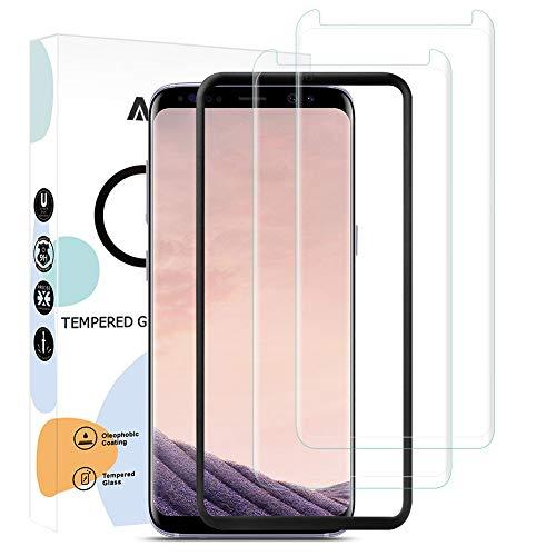 AODDOR Vetro Temperato per Samsung Galaxy S8 Pellicola Protettiva, [2 Pezzi] S8 Pellicola Protezione, Durezza 9H Anti-graffio Anti-Bolle HD Schermo Protettivo Galaxy S8 - con Strumento Installazione