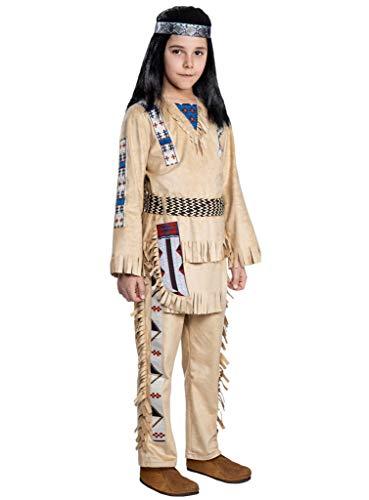 Maskworld Winnetou Kinderkostüm - Indianer Western - Kindergröße: 122-128 - Lizenz-Kostüme aus den Karl-May-Filmen für Karneval und Motto-Party