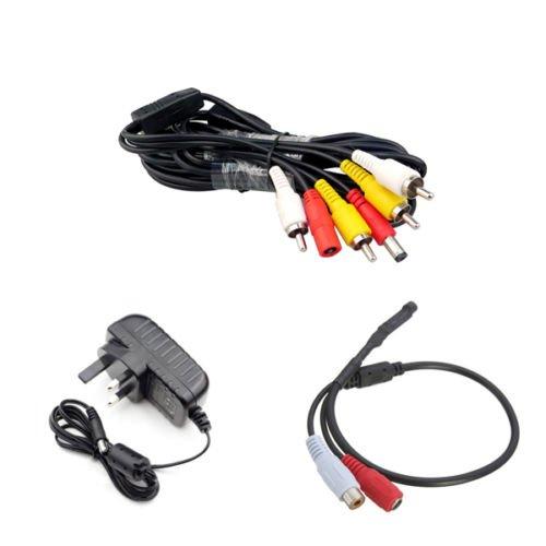 5M Toevoegen op High Gain Audio Covert Microfoon Kit voor CCTV Camera Beveiligingssysteem