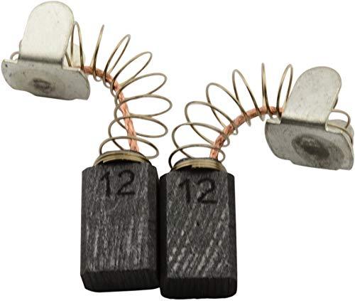 Buildalot Specialty Kohlebürsten ca-17-37773 für Protool Bohrmaschine DRP 10 EQ - 5x8x12,5mm - Mit Automatischer Abschaltung, Federn, Kabel und Stecker - Ersatz für Originalteile 627003