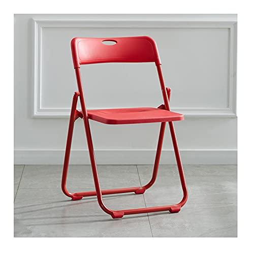 YAZHUANG8 Sedia Pieghevole in plastica Premium Acciaio, Facile da Piegare, sedie da Tavolo Pieghevoli for Balcone, Cortile, Giardino (Color : D)