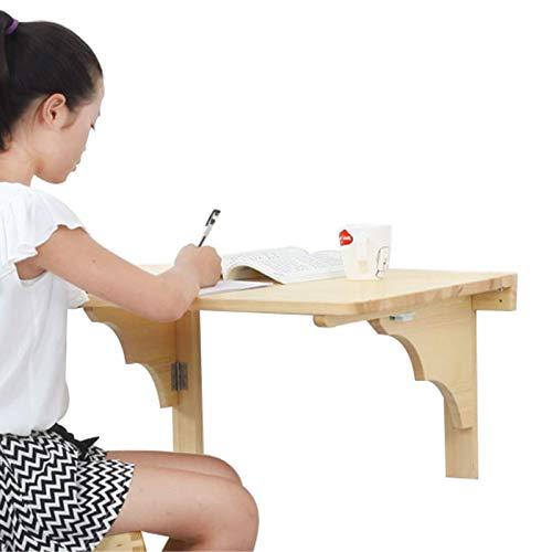 XiYou Nuevo Escritorio Plegable, Mesa de Comedor Invisible de Madera Maciza, Escritorio montado para Espacios pequeños, Restaurante, Cocina, hogar y Hotel (60 × 40 × 29 cm)
