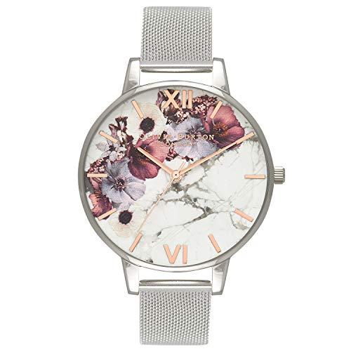 Olivia Burton Reloj Analógico para Mujer de Cuarzo con Correa en Acero Inoxidable OB16MF09