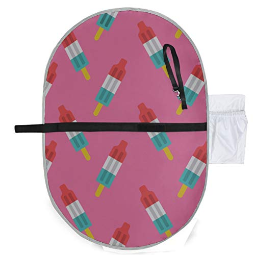 Baby Portable Pad Wasserdichte faltbare Rakete Eis am Stiel Muster Windelmatte Reisematte Bequemes Aufhängen