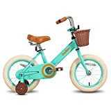 JOYSTAR 14 Inch Kids Bike for 3 4 5 Years Old Girls, Kids Bicycle with Front Basket & Training Wheels for 3-5 Years Children,...