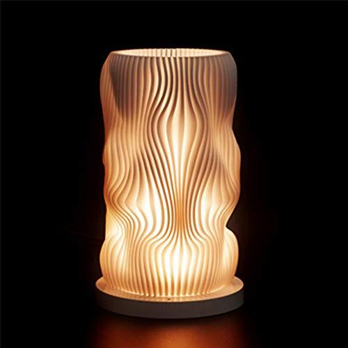 XHSHLID 3D-print-led-nachtlamplamp, USB, vakantie, warmwit, vervangbaar, stepless-schaal, kantoor, tafel, bedlampje