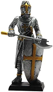 PTC 4 Inch Medieval Knight with Axe and Shield Resin Statue Figurine