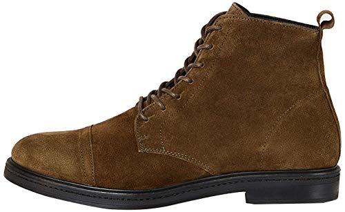 find. Lace Up Leather Klassische Stiefel, Grün (Green Khaki), 44 EU