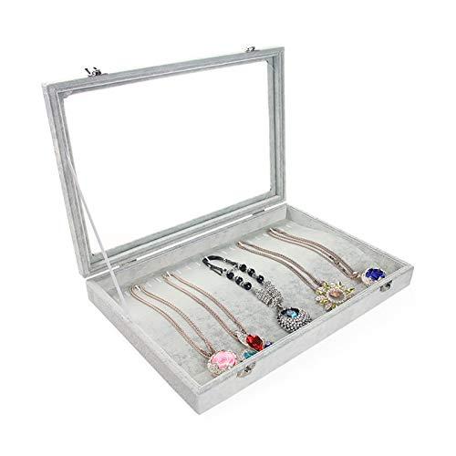 Caja de almacenamiento de joyería pequeña caja de joyería collar titular caja de almacenamiento pendiente collar caja de presentación