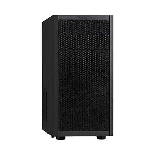 Fractal Design Core 1000 USB 3 - Mini Tower Computer Case - mATX - High Airflow and Cooling - 1x 120mm Silent Fan Included - Brushed Aluminium - Black