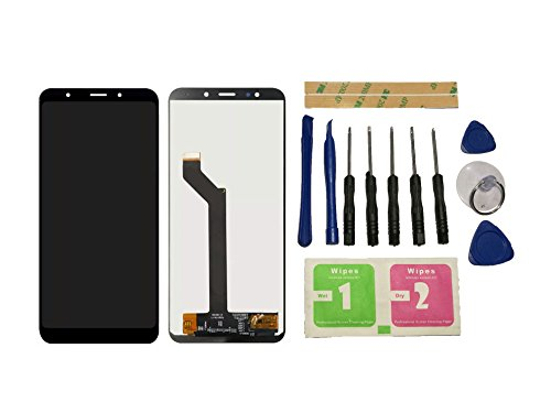 Flügel para Xiaomi Redmi 5 Plus Pantalla LCD pantalla Negro Táctil digitalizador Asamblea Pantalla ( sin marco ) de Recambio & Herramientas