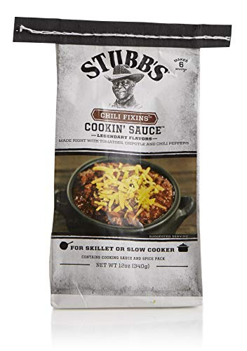 Stubb's Chili Fixins Cookin' Sauce, Gluten Free, For Skillet or Slow Cooker, Makes 4+ Servings, 12 Oz, Pack of 3