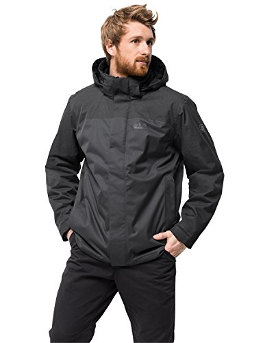 Jack Wolfskin Echo Lake Men 3-in-1 jas waterdicht winddicht ademend 3-in-1-jack