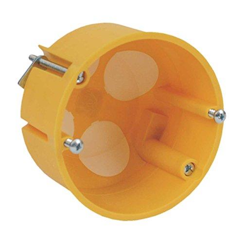 Doos voor holle muur, luchtdicht met doorstootrand oranje gereedschapsdoos elektrische installatie montage inbouw
