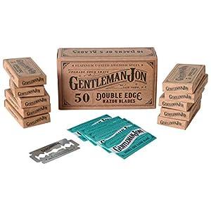 Gentleman Jon Platinum Double Edge Razor Blades | 50 Pack (12 months supply) | Swedish Stainless Steel | Safety Razor… 3