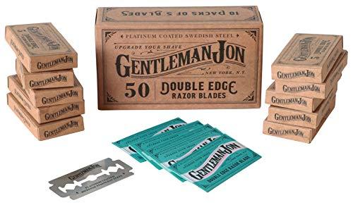 Gentleman Jon Platinum Double Edge Razor Blades   50 Pack (12 months supply)   Swedish Stainless Steel   Safety Razor… 1