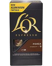 L'OR Espresso Forza Intensity 9, Nespresso Compatible Aluminium Coffee Capsules, 10 capsules