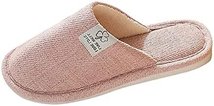 Aniywn Slippers for Womens Men, House Slippers Indoor Memory Foam Autumn Winter Anti-Slip Soft Slippers Comfy Home Slipper