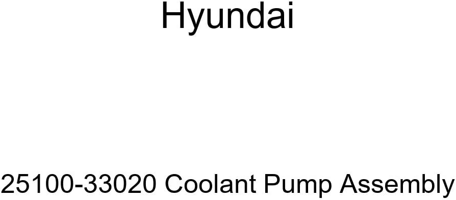 Genuine Oakland Mall Hyundai 25100-33020 Assembly Coolant Dallas Mall Pump