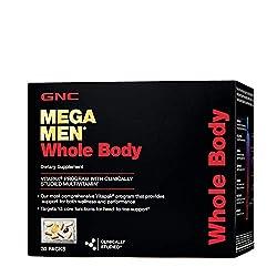 professional GNC Mega Men Vitapak full body, 30 packs, wellness and performance support