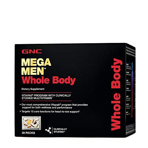 GNC Mega Men Whole Body Vitapak, 30 Packs, Supports Wellness and Performance